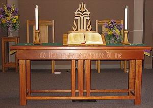 SLIDE 15 - Communion Table