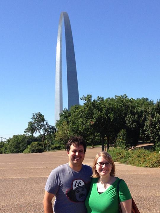 At the St. Louis Arch