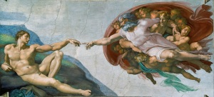 SLIDE 6 - Michaelangelo God