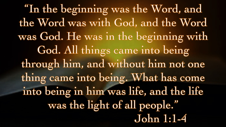 Image result for John 1:1-4